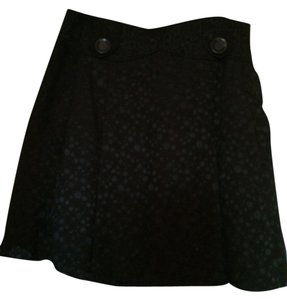 Tulle Goth Rocker Mini Skirt black with black polka dots