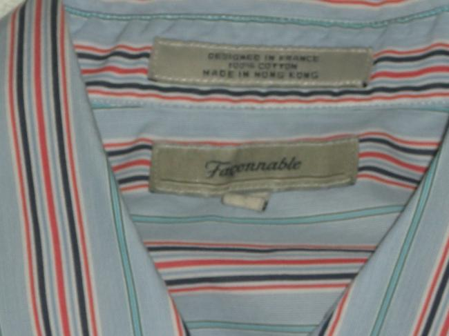 Façonnable Top Red/White/Blue Stripe