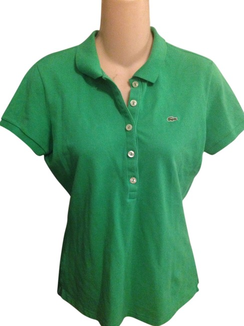 Preload https://item3.tradesy.com/images/lacoste-green-vintage-80s-bright-ladies-cotton-pique-polo-shirt-j-crew-tee-shirt-size-8-m-3751132-0-0.jpg?width=400&height=650