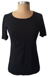 Louis Vuitton Scoop Neck Basic T Shirt black