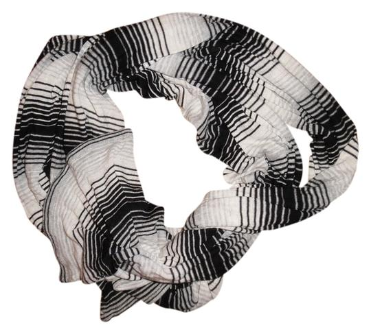 Preload https://item1.tradesy.com/images/black-gray-white-striped-stretchy-long-scarfwrap-3751540-0-0.jpg?width=440&height=440