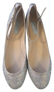 Betsey Johnson Sparkle Champagne Gold Silver Silver/gold/sparkle Flats