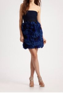 BCBGMAXAZRIA Party Maxazria Floral Blue Night Out Date Night Dress