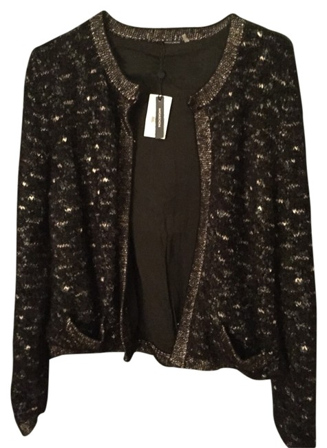 Preload https://item2.tradesy.com/images/magaschoni-cardigan-black-whitemetallic-3752701-0-0.jpg?width=400&height=650