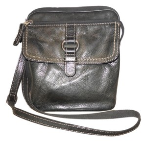 Fossil Leather Organizer Ogc Cross Body Bag