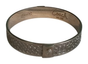 Coach coach signature bangle bracelet