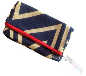 Quiksilver Navy, Natural Red Clutch