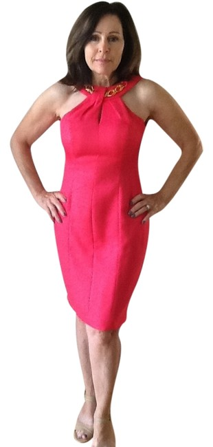 Preload https://item4.tradesy.com/images/kay-unger-unique-chain-detal-dress-coral-pink-3753613-0-0.jpg?width=400&height=650