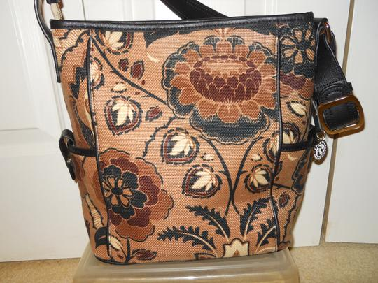 Spartina 449 Linen Leather Shoulder Bag
