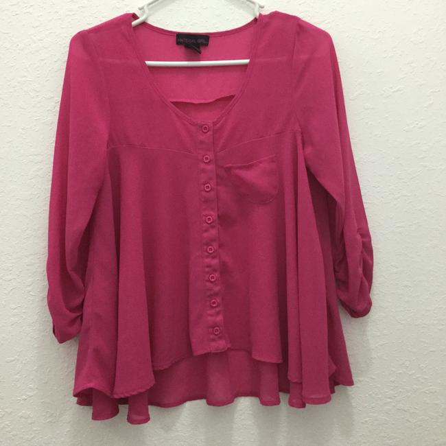 Preload https://item4.tradesy.com/images/material-girl-fuschia-cropped-blouse-size-2-xs-3753718-0-1.jpg?width=400&height=650