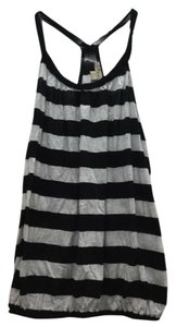 Forever 21 Racer-back Striped Top Black, White