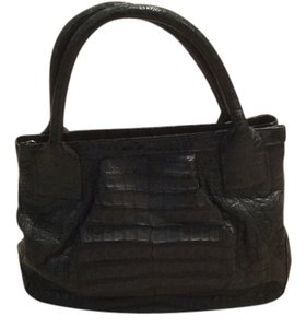 LAI Crocodile Satchel in Charcoal