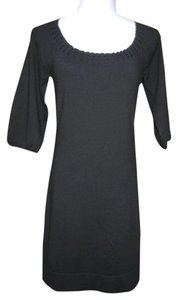 Ann Taylor short dress Black Wool Blend Sweater 3/4 Sleeve on Tradesy