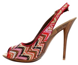 Restricted Red Brown Black Cream Multi Pumps