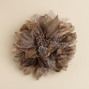 Mariell Golden Brown Shimmer Flower Clip Or Brooch 3460h-gb Hair Accessory