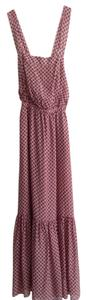 Red/Navy design Maxi Dress by J.Crew