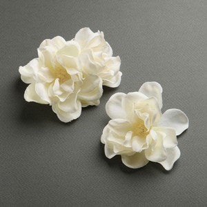 Mariell Ivory Silk Gardenia Trio Flower Hair Clips For Brides 3860h