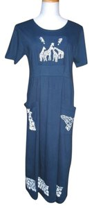 Blue Maxi Dress by Funwear Factory
