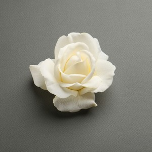Mariell Real Touch Ivory Rose Bridal Hair Flower With Genuine Look & Feel 3861h
