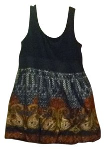 JFW short dress black with tribal design on Tradesy