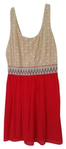 Lily Rose short dress Off White/Red on Tradesy
