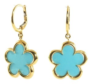 Aspery & Guldag Aspery & Guldag 18K Yellow Gold Turquoise Flower Drop Earrings Dangle New $1950