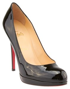 Christian Louboutin Simple 120 Patent Leather Black Pumps