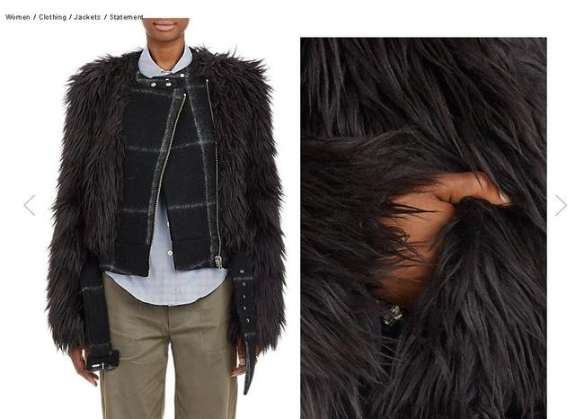 Band of Outsiders Faux Fur Jacket