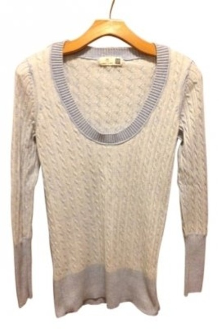 Preload https://item3.tradesy.com/images/gap-light-blue-and-white-boat-neck-cable-knit-sweaterpullover-size-8-m-37547-0-0.jpg?width=400&height=650