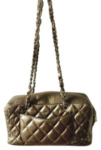 Chanel Pewter Quilted Shoulder Bag