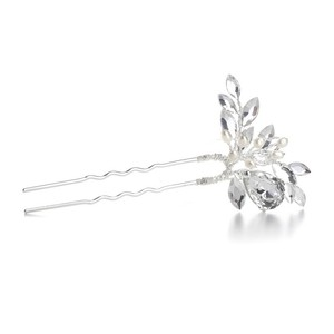 Mariell Silver Freshwater Pearl Pin with Crystals 3315hs Hair Accessory
