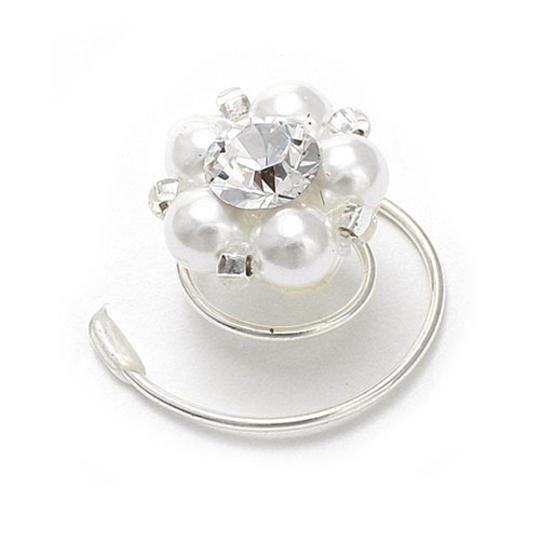 Mariell Pearl/Crystal Spirals In and 640h Hair Accessory