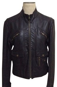 American Rag Faux Leather Brown Leather Jacket