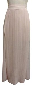 Maxi Pleated Sheer Maxi Skirt Pink