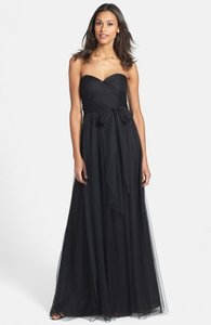 Jenny Yoo Onyx Tulle Annabelle Nordstrom Convertible Strapless Gown Black Formal Bridesmaid/Mob Dress Size 2 (XS)