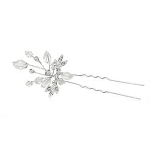 Mariell Silver Sparkling Crystal Twigs Stick 4165hs Hair Accessory