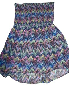 No Boundaries No Boundaries Halter Top, Multi Color, Elastic Top, Fully Lined, Junior Size 7/9