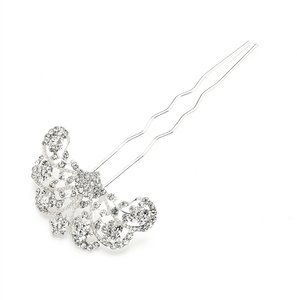 Mariell Glamorous Gatsby Fan Shaped Crystal Prom Or Wedding Hair Stick Pin 4225hs