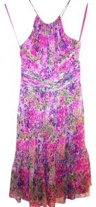 Nine West short dress Pink floral Flowy Floral Halter Spring on Tradesy