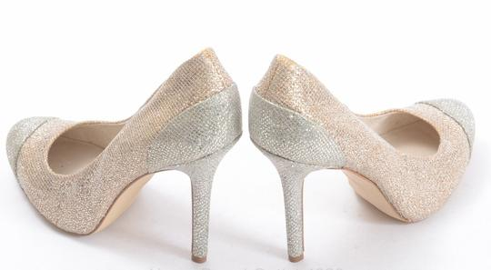Michael Kors Sinclair Cap Toe Glitter Golden Sand/Multi Pumps