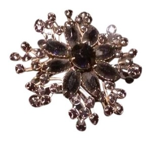 antique black broach