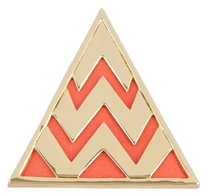 House of Harlow 1960 House of Harlow 14K Gold Plated Leather Triangle Cocktail Ring - Size 7