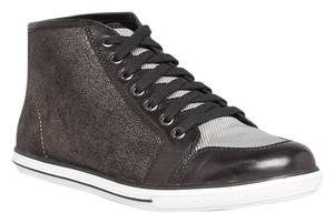 Elie Tahari Leather NEW black grey Athletic
