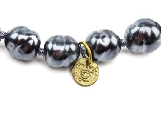 Chanel Chanel Faux Navy Pearl Necklace