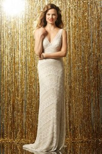 Wtoo Off White Lace Pallas Gown Style 11502 Modern Wedding Dress Size 4 (S)