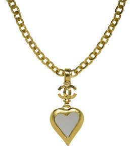 Chanel Chanel Heart Mirror Necklace