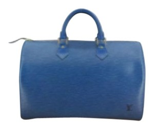 Louis Vuitton Leather Satchel in Blue