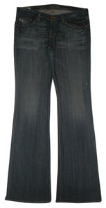 Big Star 5 Pocket Style Zip Fly Boot Cut Jeans-Dark Rinse