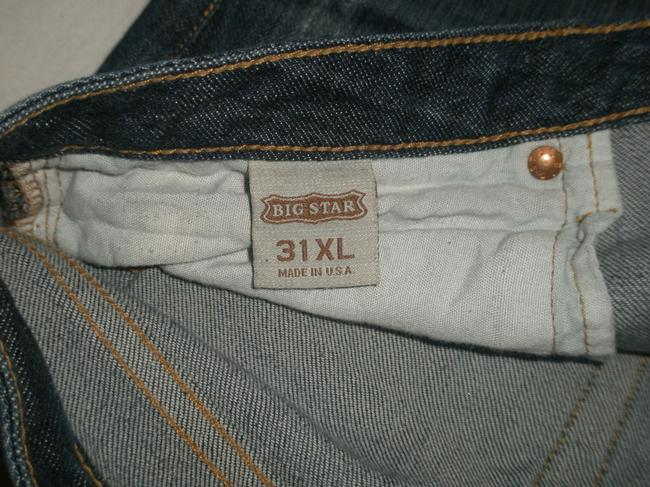 Big Star 5 Pocket Style * Zip Fly * Cotton/Spandex * Low Rise * *machine Washable Whiskering & Distressing Detail Boot Cut Jeans-Dark Rinse