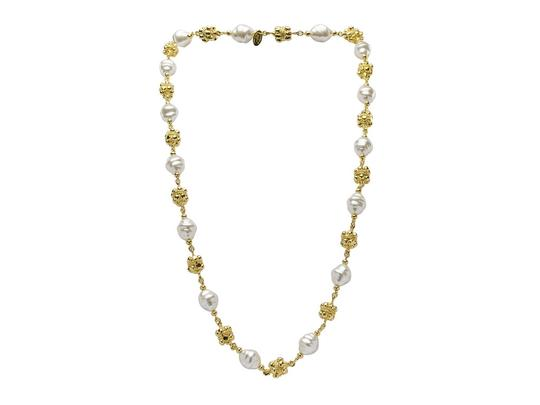 Chanel Chanel Vintage Pearl Filligree Necklace